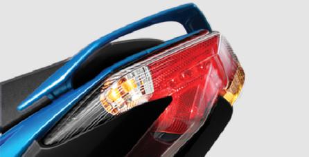 ARROW TAIL SHAPED LIGHT Design aerodinamis dan futuristik.