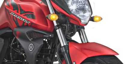 BIG FRONT SUSPENSION Suspensi depan besar membuat motor lebih stabil saat berkendara dan bermanuver.