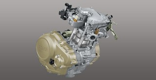 BIG TORQUE ENGINE 150CC 4 VALVES Fuel Injection bertenaga & responsif, lulus uji emisi Euro 3.