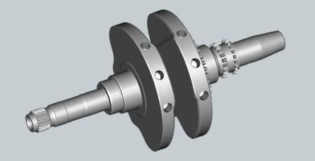 FIRST ONE-PIECE FORGED CRANKSHAFT ON YAMAHA 250 CC SCOOTER One-piece forged crankshaft memiliki rigidity yang sangat baik dan lebih ringan sehingga membuat motor lebih bertenaga.