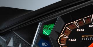 ECO INDICATOR Eco Indicator yang digunakan pada Mio Z membuatnya semakin irit lagi karena bisa mengingatkan pengendara untuk berkendara dalam kecepatan stabil dan konstan (20 – 60 km/jam
