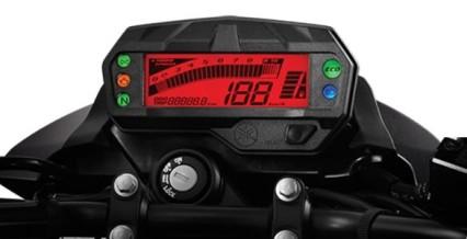 FULL DIGITAL MULTIFUNCTIONAL SPEEDOMETER Layar speedometer full digital yang multi fungsi yang dilengkapi trip meter dan eco indicator.
