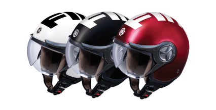HELM RETRO STYLISH Helm berdesain retro stylish yang in line dengan warna motor untuk setiap pembelian New Fino 125 Blue Core.