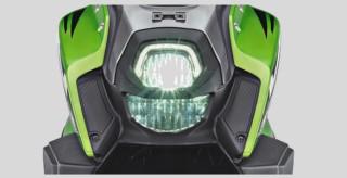 LAMPU LED DENGAN DRL Kombinasi lampu depan LED & Daytime Running Light dengan image Armored Case membuat tampilan lebih tangguh, stylish, terang dan awet.