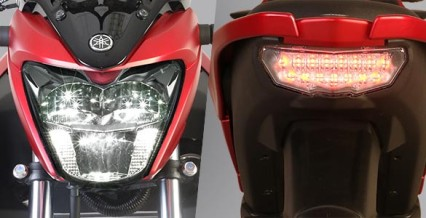 LED HEAD LIGHT & TAIL LIGHT Desain lampu depan dan belakang menggunakan teknologi LED dengan model yang agresif membuat tampilannya sporty dan aerodinamis.