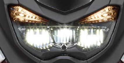 LED HEAD LIGHT Lampu depan LED, lebih terang dan lebih awet.