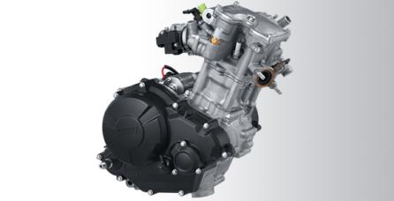 150CC FI, LIQUID COOLED SYSTEM Teknologi mesin balap yang memaksimalkan perfoma dengan mesin 4 valve 150cc Fuel Injection dilengkapi dengan Forged Piston, DiAsil Cylinder serta Liquid Cooled System.