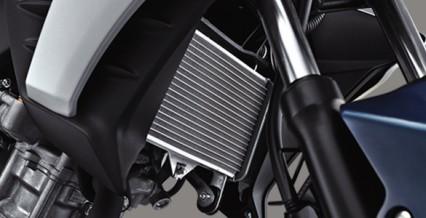 LIQUID COOLING SYSTEM Sistem pendingin mesin tipe cairan, suhu mesin stabil & performa maksimal.
