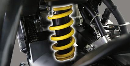 MONOCROSS SUSPENSION Motor lebih stabil saat berkendara.