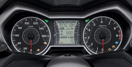MULTIFUNCTION SPEEDOMETER Speedometer analog yang dikombinasikan dengan LCD berukuran besar dengan MID (Multi Information Display) yang sangat informatif untuk pengendara.