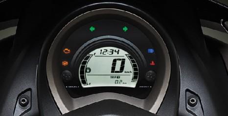 """FULL DIGITAL SPEEDOMETER Speedometer full digital yang modern dan informatif bagi pengendaranya yang dilengkapi dengan """"Multi Information DIgital"""" (MID)."""