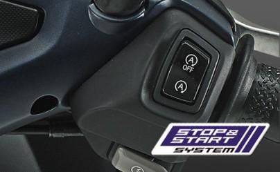 STOP & START SYSTEM (SSS) Stop & Start System (SSS) yang berfungsi untuk mengurangi konsumsi bahan bakar yang tidak perlu pada saat motor sedang berhenti. Semakin lengkap didukungSmart Motor Generator (SMG) yang membuat suara motor lebih halus saat dinyalakan.