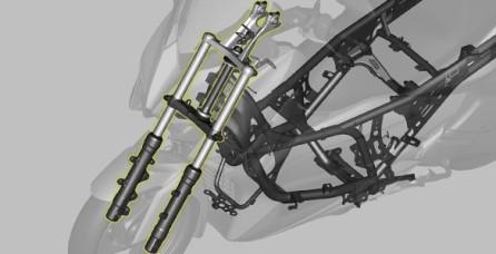 SPORT MOTORCYCLE TYPE FRONT SUSPENSION Suspensi depan dengan desain sport dan ukuran tabung yang besar (33mm) memberikan kestabilan yang maksimal serta mendukung manuver ability yang lebih baik.