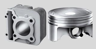 FORGED PISTON & DIASIL CYLINDER Diasli Cylinder berbahan aluminium silicon, diproses dengan teknologi modern. Membuatnya cepat melepas panas. Piston dengan proses tempa sehingga lebih padat dibanding piston cetak.