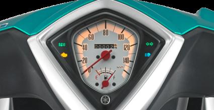 NEW SPEEDOMETER DESIGN WITH ECO INDICATOR Indikator irit yang membantu berkendara lebih ekonomis, aman dan nyaman.
